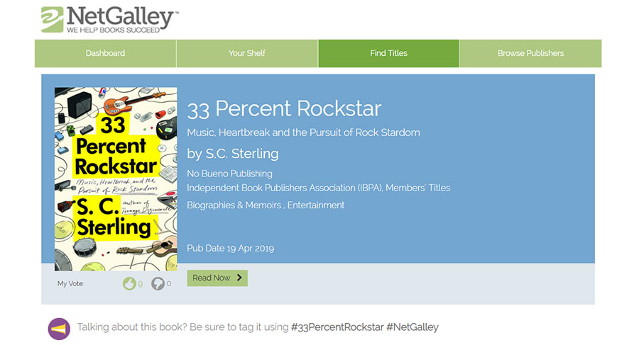 33 Percent Rockstar NetGalley Reader Reviews